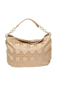 pre-owned Cannage Canvas and Leather Lady Dior Hobo