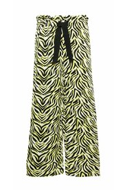 Wide-leg trousers zebra print