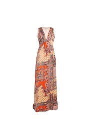 Oransje Dry Lake Max Long Dress Kjole