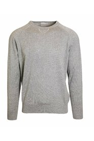 Crewneck sweater in cashmere and silk blend