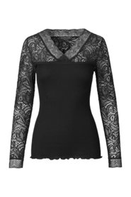 T-shirt  Regular Long Sleeve w/Lace
