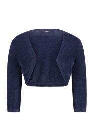 Vera Mont - 2569/4948/8541 zacht kort blauw vestje gilet