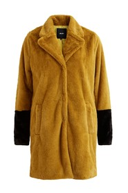 Objviolet faux fur coat buckthorn brown - Object