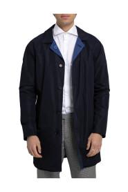 Button-Up Raincoat Jacket/Blue-46