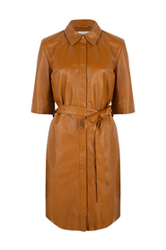 BAROON Leather shirt dress