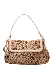 Leopard Print Pony Hair Chef Shoulder Bag