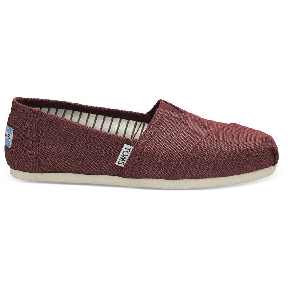 Black Cherry Heritage Canvas Toms Alpargata