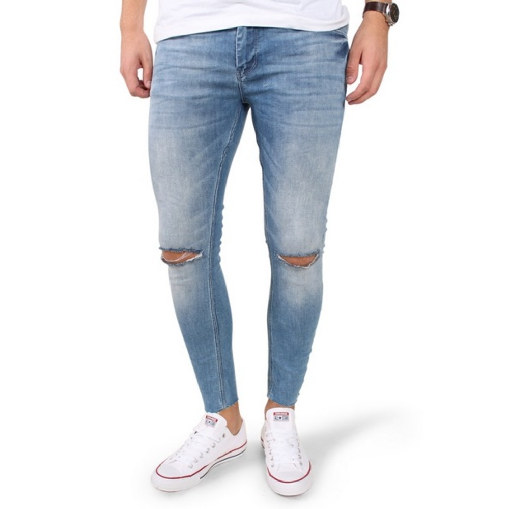RS 1032 Trashed Cropped Jeans
