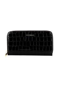 Metallic Soft Croco Zip Around Wallet