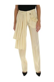 pleated panel tailored trousers