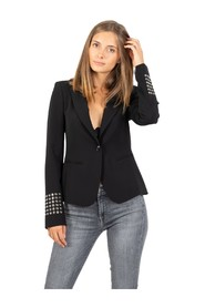 Blazer with eyelets on the cuffs