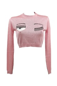 CREWNECK CROP FLIRTING SWEATER