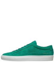 Grønn Common Projects Achilles Low Suede Sko