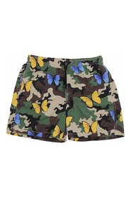 Swim shorts with butterflies