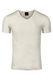 Herre V-Shirt Merino Silke
