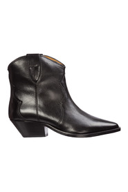 Leather heel ankle boots booties dewina