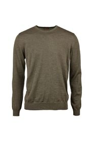 Merino Crew Neck With Patches 439 GREEN