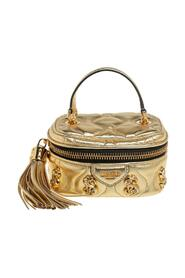Quilted Leather Mini Dollaro Top Handle Bag