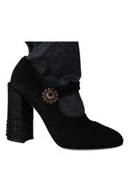 Crystal Mary Janes Booties Shoes