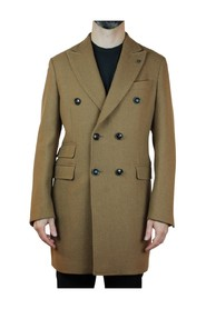 DOUBLE-BREASTED COAT WITH POCKETS-PATT-TIKET OUTERWEAR