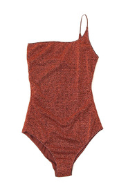 One-piece swimsuit with glitter