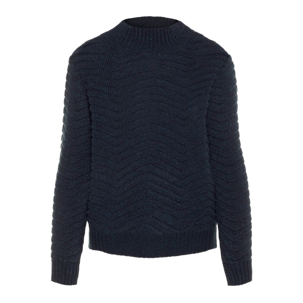 Knitted Pullover Textured high neck