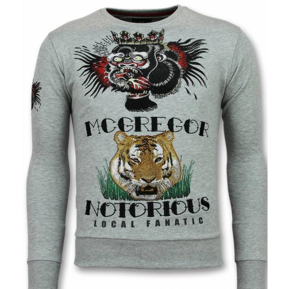 Roze Longfit Asymmetrisk Broderi - Sweater Patches  Local Fanatic  Sweatshirts