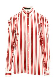 Striped Oversized Shirt With Openings At Sleeves -Pre Owned Condition Very Good