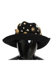 Coin Button Stud Wide Brim Panama Hat