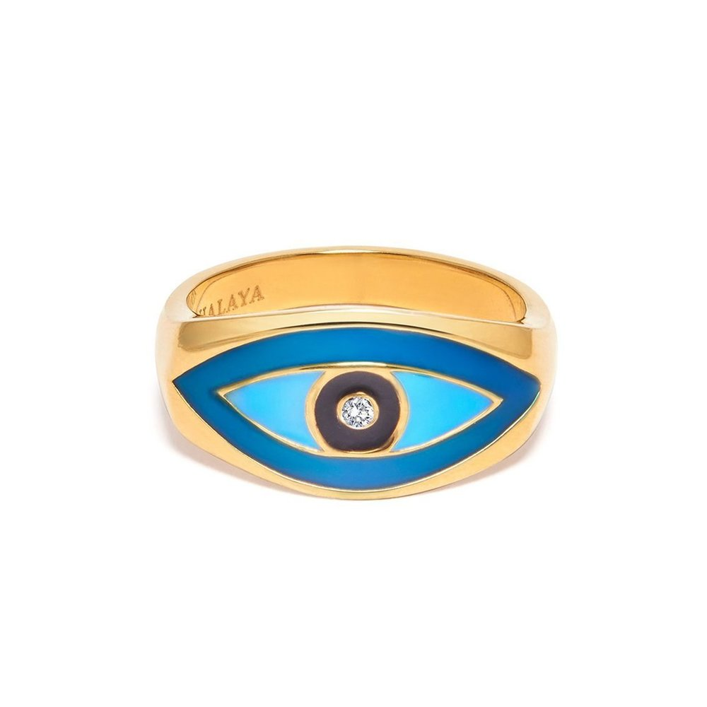 Men's Large Evil Eye Ring