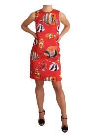 Mini sukienka bez rękawów Przesunięcie