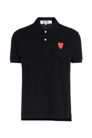 polo shirt with overlapping hearts