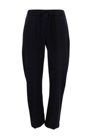 cropped tied-waist trousers