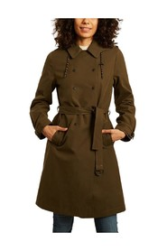 Sisteron mid-length hooded trench coat