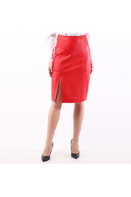 Just female beate leather skirt