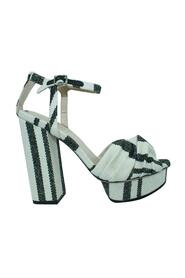 Striped Block Heels -Pre Owned Condition Very Good
