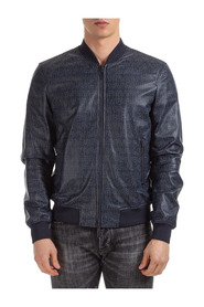 men's leather outerwear jacket blouson