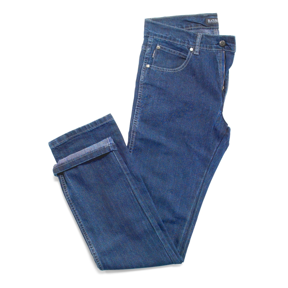 Sort blå stretch jeans