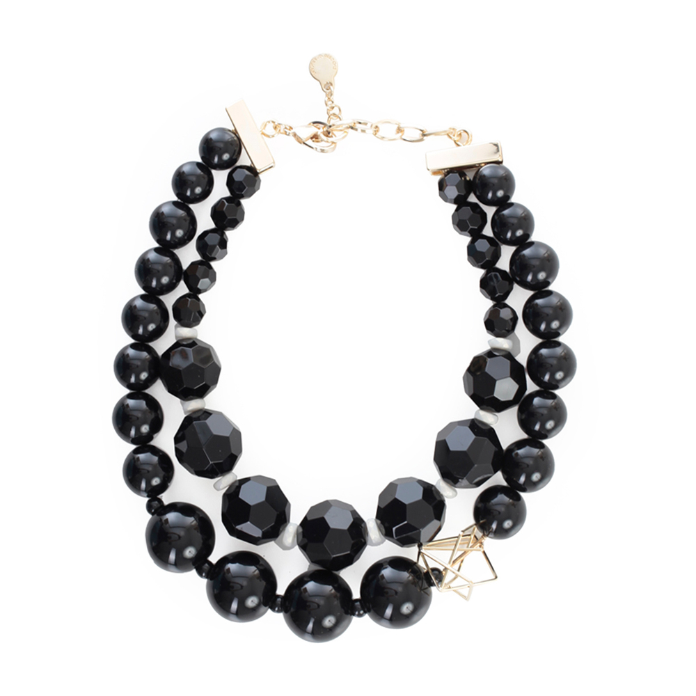 Necklace Multistring W/pearls