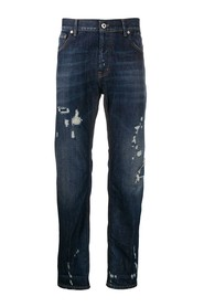 distressed spike jeans