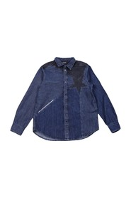 DIESEL CIPARIS 00J4OM KXA72 SHIRT Unisex Boys DENIM DARK BLUE