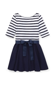 Girl Stripe Solid Kjole French