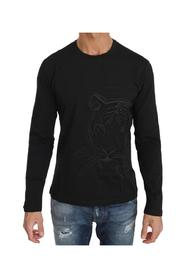 Tiger Embroidered Crewneck  T-shirt