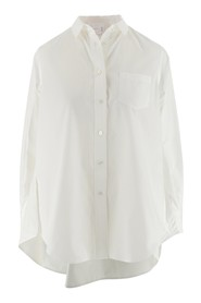 Poplin shirt with chest pocket