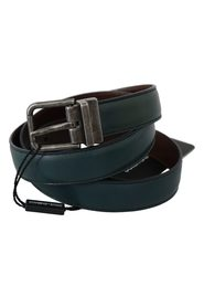 Calfskin Leather Metal Buckle Belt