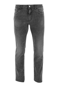 Jeans Five-pocket classic model Front button and zipper closure