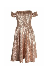Midi offshoulder sequin dress