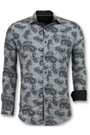 Italian Blouse with print in Collar 3002