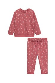 Floral sweatshirt and trousers pack