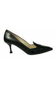 Pre-owned Pointed Toe Leather Heels